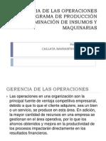 Gerencia de Las Operaciones Callata
