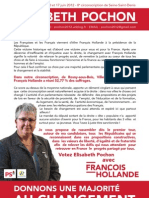 Tract N°2 d'Elisabeth Pochon Mai 2012 - Legislatives - 8 ème Circonscription