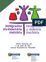 PROGRAMA JORNADA INMIGRACIÓN Y VIOLENCIA MACHISTA