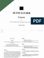 Alvin Lucier - Canon (1996)