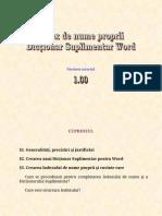 [W1] Realizarea Indexului de nume proprii şi a Dicţionarului Suplimentar Word - V1.00