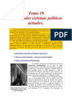 Principales sistemas políticos actuales