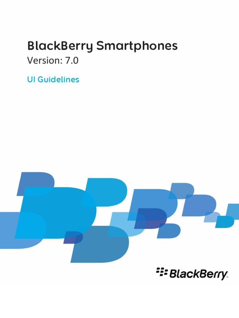 Blackberry Smart Phones UI Guidelines T893501 1512991 0511044455 001 7.0  Beta US | Blackberry | Computer Keyboard
