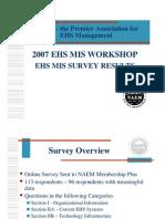 Ehs Mis Survey Results 2007