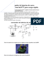 Circuito carregador de baterias de carro chumbo ácido com lm317T para carga rápida