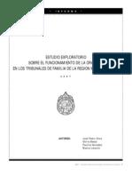 FAM. CL. Estudio Exploratorio Sobre El Funcionamiento de La Oralidad en Los Tri Bun Ales de Familia. UC. 2007