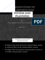 1- Introduction to Transportation System and Planning