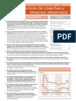 Perspectivas de Cosechas y Situacion Aliment Aria 2012