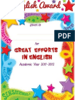 End-OF-YEAR ENGLISH AWARDS