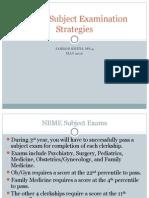 Student 2 Student NBME Subject Examination Strategies