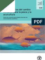 Consecuencias del cambio  climático para la pesca y la  acuicultura.