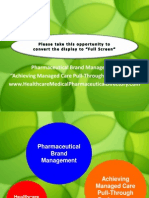 Achieving Managed Care Pull-Through Performance Healthcare Medical Pharmaceutical Directory
