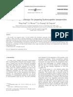 A simple sol–gel technique for preparing hydroxyapatite nanopowders