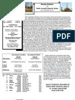 St. Joseph's May 6, 2012 Bulletin