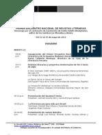 Programa I Encuentro Nacional de Revistas