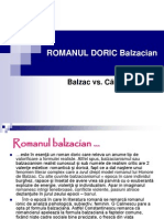 ROMANUL DORIC Balzacian