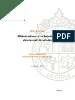 Alfabetizacion en Establecimientos Chilenos Subvencionados Informe Final