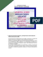 DISPOSICIONES LEGALES EQUIPO