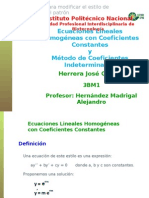 Ecuaciones Lineales Homo Gene As Con Coeficientes Constantes OFFICE 2010