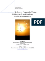Renewable Energy Potential in China