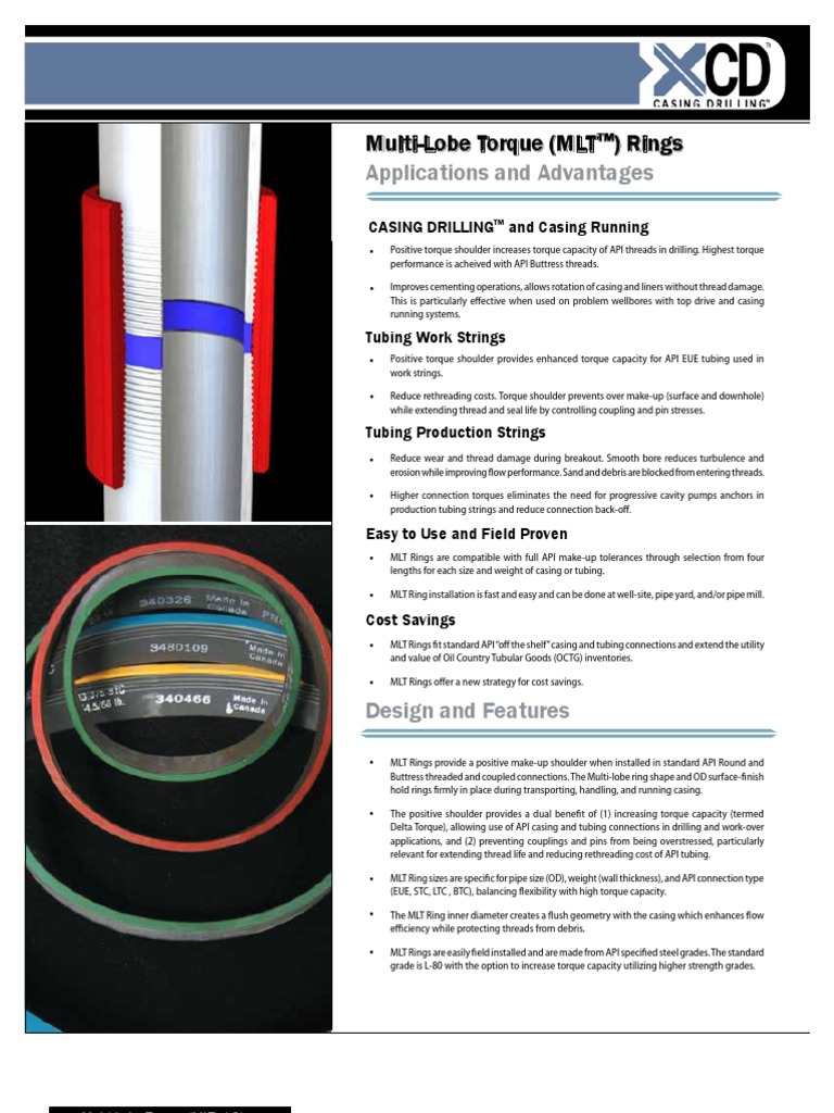 Tesco Ring-MLT Ring RevF LoRes | Casing (Borehole) | Oil Well