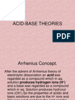 Acid Base Theories