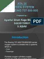 Oxygen System in Boeing 737 600-900