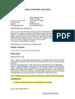 MODELO DE INFORME  PSICOLÓGIC0