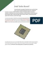 Qué hace Intel Turbo Boost