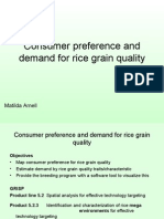 Consumer preference and demand for rice grain quality