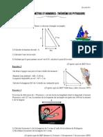Exercices Geometrie Et Nombres Theoreme de Pythagore Seconde Pro