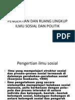SOSPOL 1 Pengertian Dan Ruang Lingkup Ilmu Sosial Dan Ilmu Politik