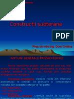 Constructii subterane