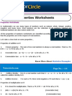 Properties Worksheets