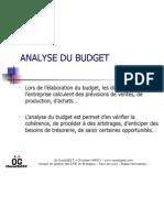 Analyse du budget