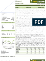 Titan Industries Ltd_Initiating Coverage_Fairwealth Securities Ltd_10April 2012