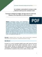 Paradigme si Abordari Sociologice Contextualiste in Asistenta Sociala / Contextual Sociological Paradigms and Approaches in Social Work, Petru Stefaroi