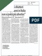 articolo Repubblica obiezione