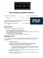 Tenant Placement.management Agreement