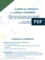 Pre Zen Tare Aplicatie Romanul Interbelic