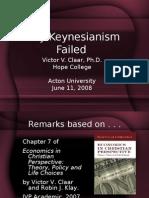Why Keynesianism Failed