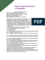 Ozg Multi-State Co-Operative Soceity Registration Consultant