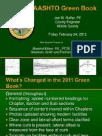 AASHTO_Green_Book_Changes - Auburn Transportation Conference