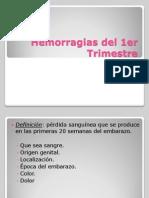 Hemorragias Del 1er Trimestre