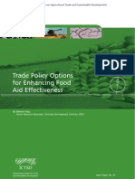 Trade Policy Options for Enhancing Food Aid Effectiveness
