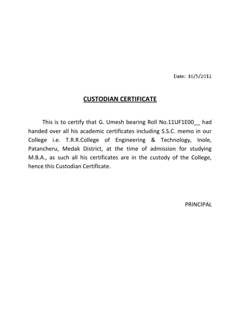 Request Letter Format Bonafide Certificate.  1522779601 v 1