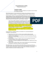 RESUMEN Fraude Electoral Venezuela