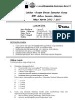 Soal Latihan UU Sem. 2 Sejarah IPA (ANT)