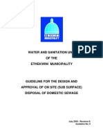 Disposal of Domestic Sewage - Guideline 6