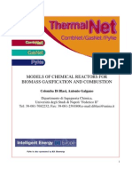 2F-4 Models of Chemical Reactors for Biomass Gasification and Combustion